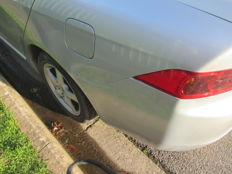 After photo of the car dent